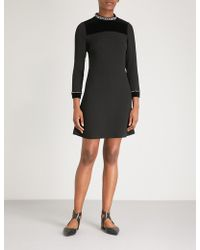 Sandro - Embellished Woven Dress - Lyst
