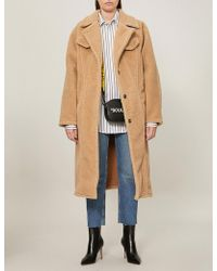 Off-White c/o Virgil Abloh - Textured Faux-fur Teddy Coat - Lyst