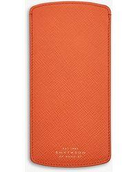 Smythson - Panama Leather Glasses Case - Lyst