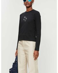 ADER error Graphic-print Cotton-jersey T-shirt - Black