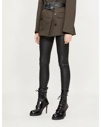 A.F.Vandevorst - Raw-hem Leather Leggings - Lyst