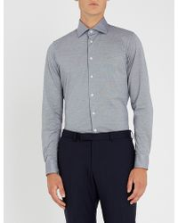 Richard James - Contemporary-fit Cotton-piqué Shirt - Lyst