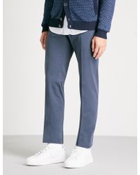 Slowear - Royal Batavia Slim-fit Linen And Cotton-blend Chinos - Lyst