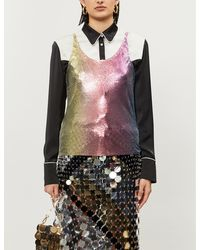 Paco Rabanne Ombré Sleeveless Chainmail Top - Multicolour
