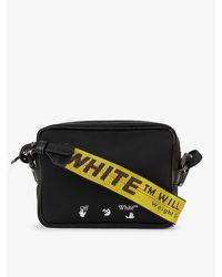 Off-White c/o Virgil Abloh Logo-embroidered Shell Cross-body Bag - Black