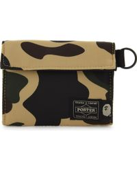 A Bathing Ape - Camouflage Print Wallet - Lyst