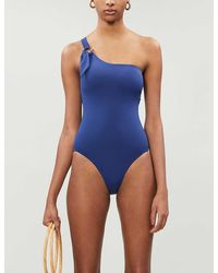Seafolly Active Ring-detail High-leg Swimsuit - Blue