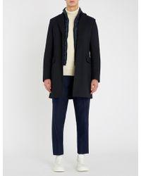 BOSS Padded-layer Woven Coat - Blue