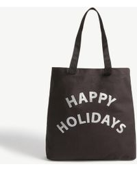 Whistles - Happy Holidays Canvas Tote Bag - Lyst