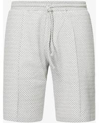 PREVU Webster Geometric-pattern Stretch-knit Shorts - Grey