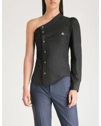 Vivienne Westwood - Asymmetric-neckline Cotton Shirt - Lyst