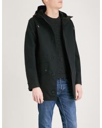 Sandro - Hooded Cotton Parka Coat - Lyst