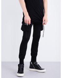 Rick Owens - Cargo Cotton-jersey Jogging Bottoms - Lyst