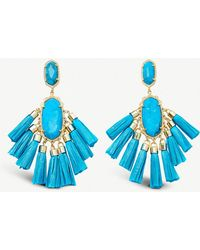 Kendra Scott - Kristen 14ct Gold-plated And Howlite Stone Drop Earrings - Lyst