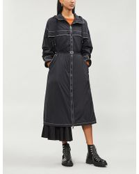 Moncler - Dacca Contrast-trim Quilt-lined Shell Coat - Lyst