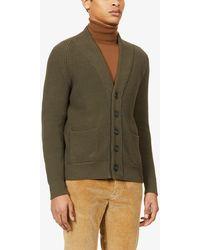 Corneliani V-neck Cotton-knit Cardigan - Green