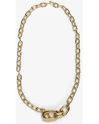 Paco Rabanne Oversized Gold-tone Chain Necklace - Metallic
