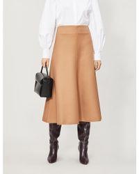 Camilla & Marc Aria Twill Midi Skirt - Natural