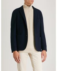 Slowear - Slim-fit Single-breasted Bouclé Jacket - Lyst