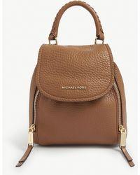 MICHAEL Michael Kors Leather Viv Backpack - Brown