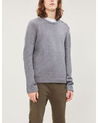 The Kooples - Skull Button Trim Wool-blend Jumper - Lyst