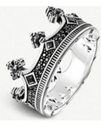 Thomas Sabo Rebel Kingdom Crown Silver Ring - Metallic