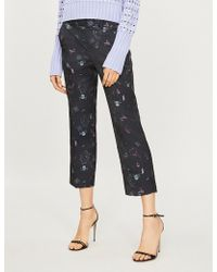 Zadig & Voltaire - Posh Jac Tattoo Cropped High-rise Jacquard Straight-leg Trousers - Lyst