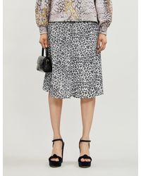 Olivia Rubin Jeanie Animal-print Sequin-embellished Midi Skirt - Black