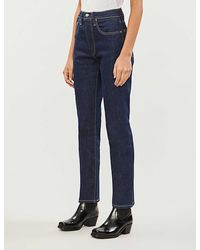 Levi's 501 Cropped Slim High-rise Jeans - Blue