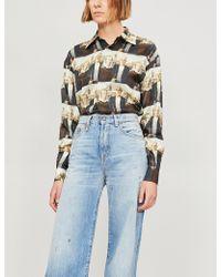 Palm Angels - American Gothic Silk-twill Shirt - Lyst