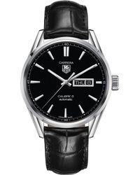 big sale d6e69 7027a Lyst - Tag Heuer War201d.fc6266 'carrera' Automatic Black ...