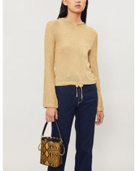 M.i.h Jeans - M.i.h Jeans X Bay Garnett Golborne Road Vintage Metallic-knit Hoody - Lyst