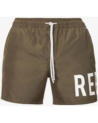 Replay Logo-print Recycled-polyester Swim Shorts - Green