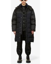 Gucci Detachable Drawstring-hood Shell-down Coat - Black