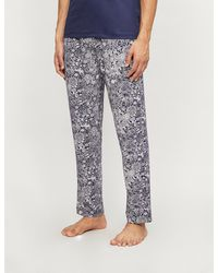 Zimmerli Paisley Cotton Pyjama Bottoms - Blue