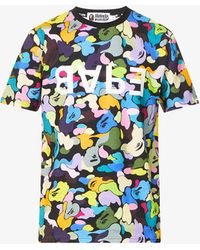A Bathing Ape - Bapeulti Graphic-print Cotton-jersey T-shirt - Lyst