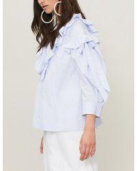 Simone Rocha - Ruffled-trim Cotton Blouse - Lyst