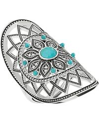 Thomas Sabo Dreamcatcher Sterling Silver Ring - Blue