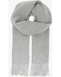 Vivienne Westwood - Embroidered Wool Scarf - Lyst