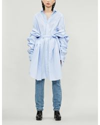 Y. Project Layered Cotton-poplin Shirt - Blue