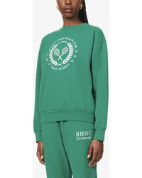 Zizi Donohoe Tennis Academy Logo-embroidered Cotton-jersey Sweatshirt - Green