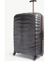 Samsonite - Eclipse Grey And Red Stripe Lite Shock Sport Hardshell Spinner Suitcase - Lyst