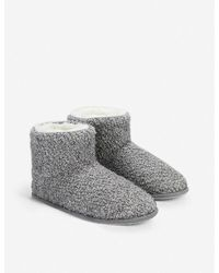 The White Company Boucle Slipper Boots - Grey