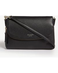 Kate Spade Polly Leather Cross-body Bag - Black