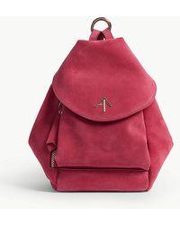 MANU Atelier - Ladies Fuschia Pink Mini Fernweh Suede Shoulder Bag - Lyst