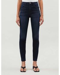 3x1 Channel Seam High-rise Skinny Jeans - Blue