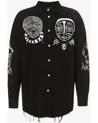 Haculla Souls Graphic-print Cotton Shirt - Black