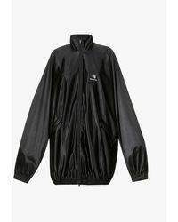 Balenciaga Oversized Jersey Tracksuit Jacket - Black