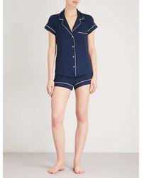 Eberjey Gisele Jersey Pyjama Set - Blue