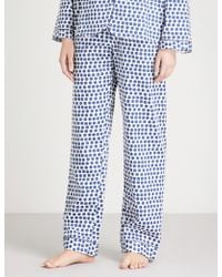 Bodas Siena Cotton Pyjama Bottoms - Blue